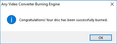 Burn DVD successfully