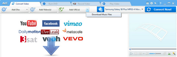 Download Video and Audio to Samsung