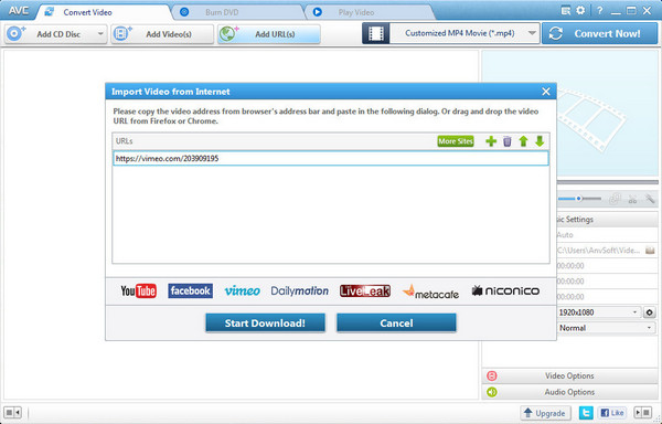 Add Vimeo URL(3)